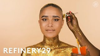 Gold Glitter Makeup Looks That Are So Extra   Short Cuts   Refinery29