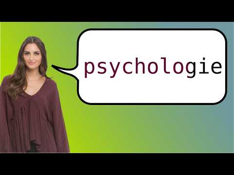 How to say 'psychology' in French?