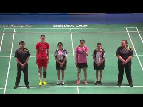 XIAMENAIR Australian Badminton Open 2016 | F M5-WS | Sun Yu vs Saina Nehwal