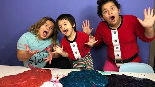 MAKING SLIME WITH OUR BABY BROTHER - DIY GIANT GALAXY SLIME