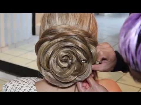 Видеоурок прическа роза