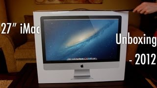 27 iMac Unboxing - Late 2012 Fully Spec'd Model