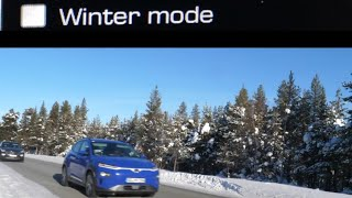 """""""Winter mode"""" in the Kona Electric. Restricted power mode 35KW (47bhp)"""