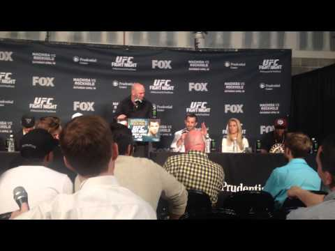 UFC Fight Night Machida vs. Rockhold Post Fight Press Conference - Luke Rockhold and Paige VanZant