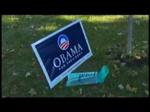 Political signs continue to be targeted by vandals