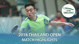 2018 Thailand Open Highlights   Masataka Morizono vs Xu Ruifeng (Final)