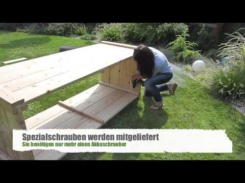 das bauer holz hochbeet youtube. Black Bedroom Furniture Sets. Home Design Ideas