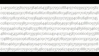 the first 1 million digits of pi