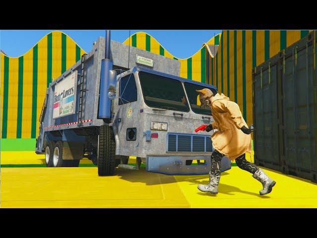 RUN O TE ATROPELLO !! WITH TRUCKS !! - GTA V ONLINE - GTA 5 ONLINE
