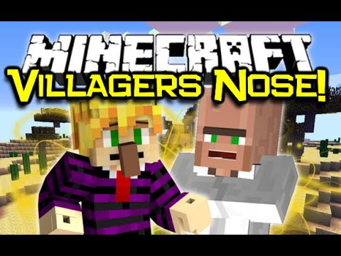 Minecraft VILLAGERS NOSE MOD! Cut It Off, Plant It, Or Wear It! (Minecraft Mod Spotlight)