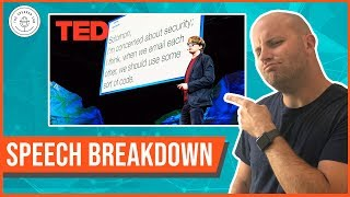 "Speech Breakdown: TED Talk by James Veitch (""What Happens When You Reply To Spam Email"")"