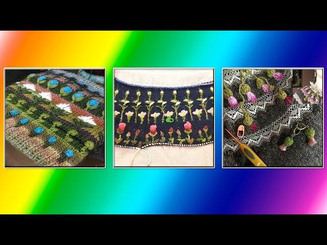 Модели вязания Вязание узоров в стиле вышивки.