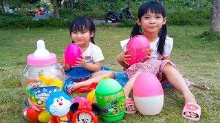 Bé XuXu ❤ Trò Chơi Săn Trứng Khủng Long ❤ Những Quả Trứng Sắc Màu