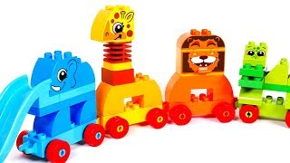 Learn Colors with Lego Animal Train Playset for Kids | Learning with Yippee Toys