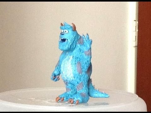 Tutorial Sulley/ Zuly monsters Inc/University (plastilina o porcelana Fria)