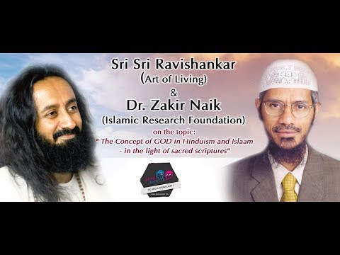 Sri Sri Ravi Shankar Vs Dr Zakir Naik. Why Muslim Killing The Cow ?  Even Plants Can Feel Pain video