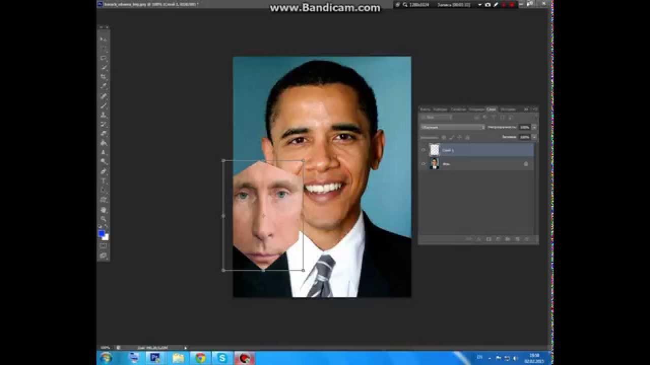 Фотошоп как сделать две фото в одной онлайн