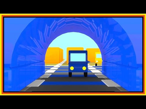 Cartoon Cars - SCARY TUNNEL! Relay Race Construction Cartoons about Cars. Videos for kids