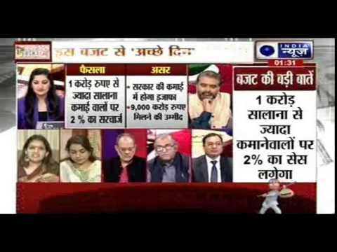 India News Exclusive debate on Union budget 2015