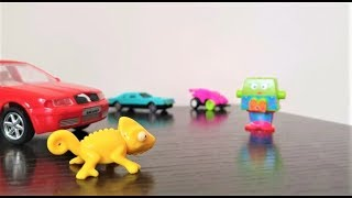 Stories for Kids : Mr Cham has car trouble - Toy Videos for kids