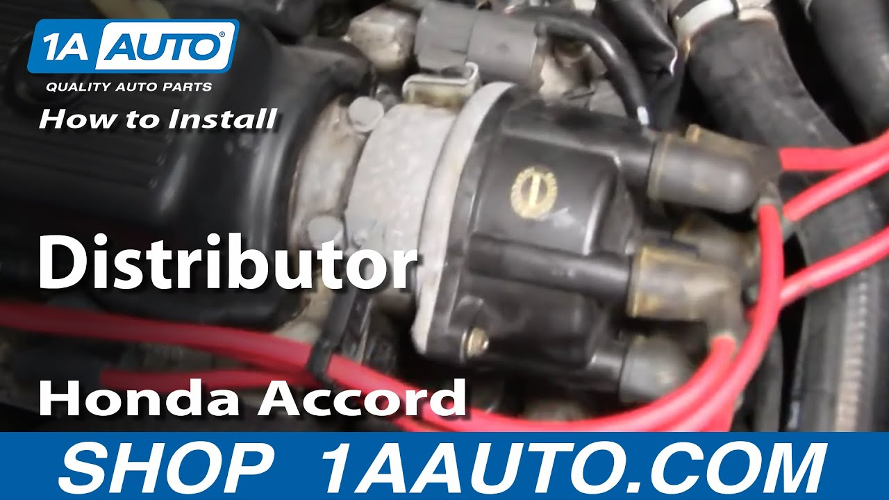 How To Install Replace Distributor Honda Accord V6 2 7l 95