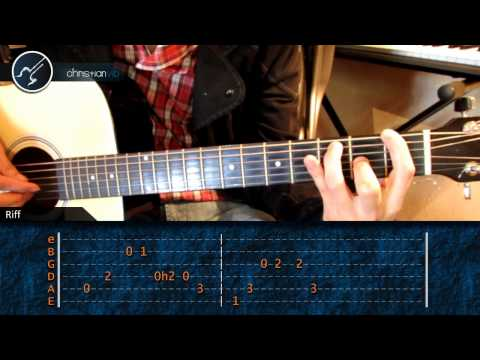 Como tocar Californication en Guitarra Acustica (HD) Tutorial