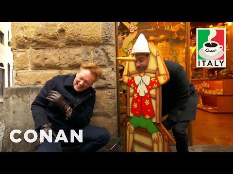 Conan & Jordan Schlansky Hit The Streets Of Florence  - CONAN on TBS