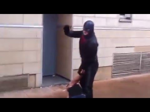 Real Super Hero In Action