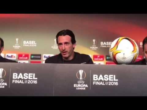 Rueda de prensa de Unai Emery, en la previa de la final de la Europa League