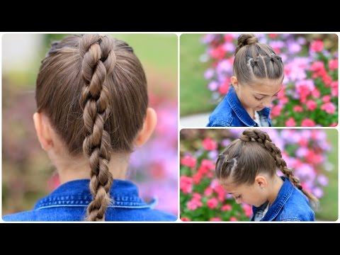 How to create a chain link braid sport hairstyles youtube