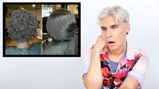 Hairdresser Reacts To Silk Press On 4C Hair