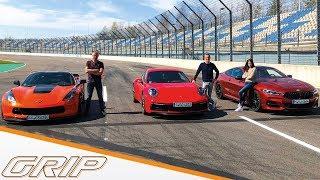 911 gegen alle! I Porsche 911 Carrera S, Corvette C7, BMW M850i I GRIP
