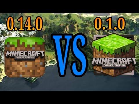 Minecraft PE 0.14.0 vs Minecraft PE 0.1.0