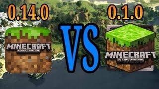 Minecraft PE 0.14.0 vs Minecraft PE 0.1.0 (BraynTEKK46)