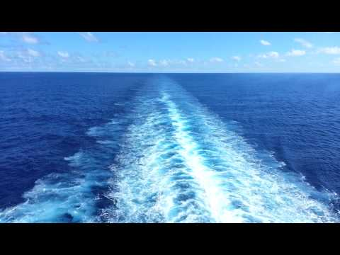 Cruise Ship Wake - Most Relaxing View in the World
