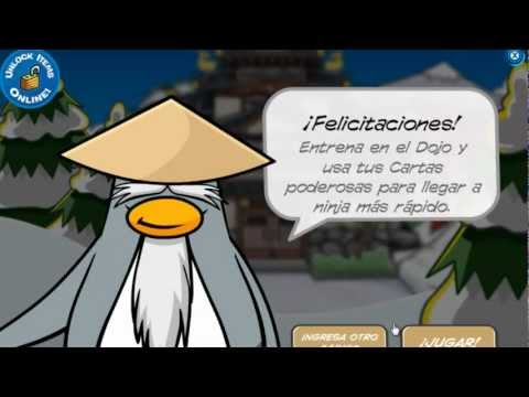 Club penguin On desbloqueando código especial dorado de card-jitsu HD.