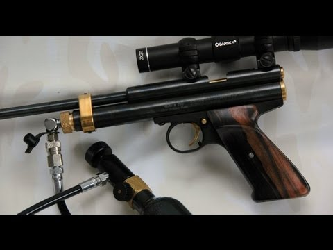 How to co2 bulk fill a Crosman 2240 2300 2250b 2400 pistol carbine
