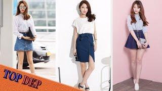 Top Mẫu chân váy jean bò đẹp thời trang cho bạn nữ diện mùa hè