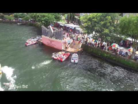 Dji Phantom 3 Standard : Follow me @ boat Sarangan Magetan  Lake