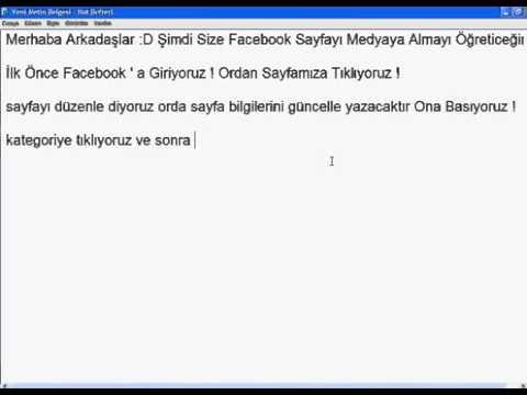 Facebook Sayfanı Medyaya Alma  Türkçe