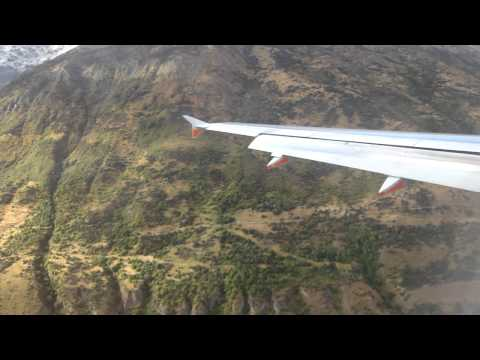 Jetstar A320 Queenstown Airport landing