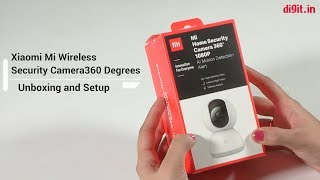 Xiaomi Mi 360 Wireless Security Camera Unboxing & Setup | Digit.in