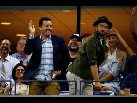 Jimmy Fallon and Justin Timberlake dance away at the US Open