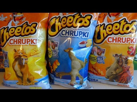 2016 Ice Age 5: Collision Course Movie Giant Cheetos Snacks Bags Surprise European Collection