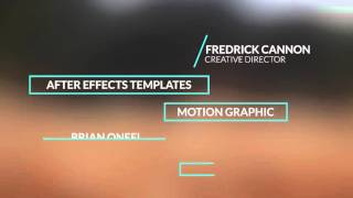 Minimal Lower Thirds After Effects Template