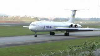 "[ HD ] Ilyushin Il-62 of YKPAIHA ""Ukraine Government"" at Guarulhos GRU/SBGR"
