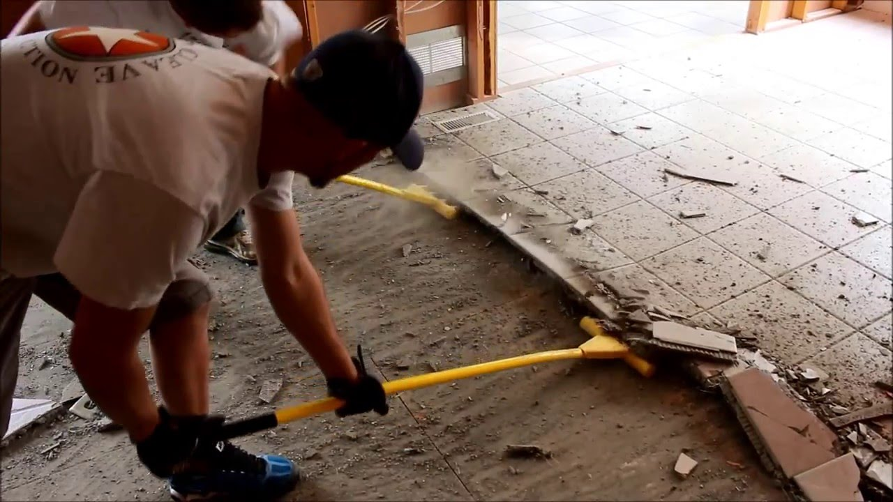 Tile floor demolition