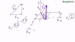 Physics 1 chapter 1 part 6 ত্রিমাত্রিক স্থানাংক ব্যবস্থায় ভেক্টরের উপাংশ