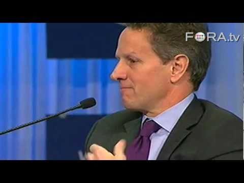 Geithner on Challenge of Curbing US Deficit