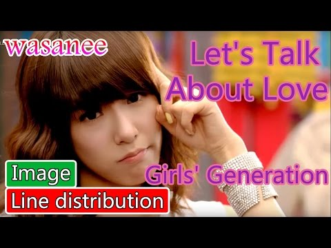 Girls' Generation/Snsd - Let's Talk About LOVE - Line Distribution (Color Coded Image)